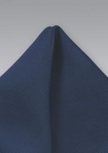 Einstecktuch marineblau in Seide