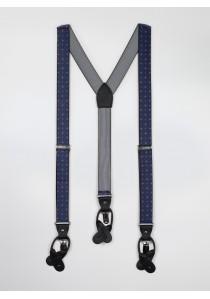 Hosenträger elastisch dunkelblau gemustert