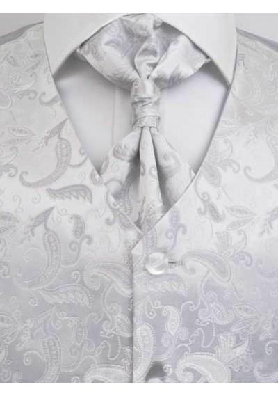 Hochzeitsweste verspieltes Paisleymotiv Silber / Grau Lorenzo Guerni