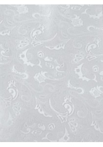 Herrenweste mit Ornamenten im Set mit Plastron und Tuch Silber / Grau Ashford