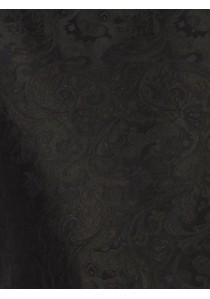 Herrenweste mit Ornamenten im Set mit Plastron und Tuch Braun Ashford