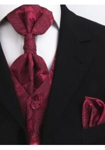 Herren-Weste Paisleymuster Hochzeit Rot Lorenzo