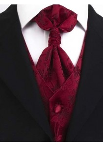 Hochzeitsweste Blumenmuster rot rot