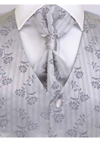 Hochzeitsweste Set Silber / Grau Lorenzo Guerni Venedig