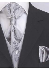 Hochzeitsweste Set Silber / Grau Lorenzo Guerni
