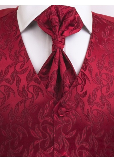 Westen Set floral gemustert Rot Lorenzo Guerni Venedig