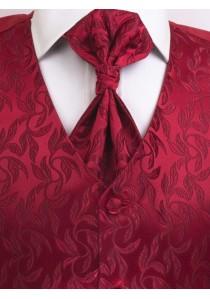 Westen Set floral gemustert Rot Lorenzo Guerni