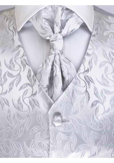 Westen Set floral gemustert Silber / Grau Lorenzo Guerni Venedig