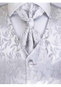 Westen Set floral gemustert Silber / Grau Lorenzo