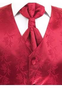 Hochzeitsweste im Set floral rot Venedig Lorenzo