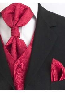 Hochzeitsweste Zweige im Set Rot Lorenzo Guerni Venedig