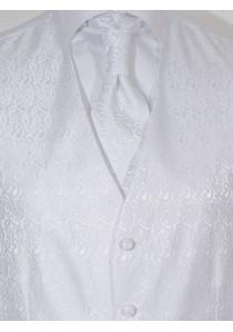 Hochzeitswesten-Set im schickem Paisley Look Weiß