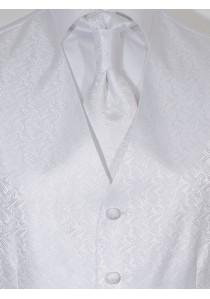 Herrenweste Set modernes Dekor Weiß Lorenzo Guerni