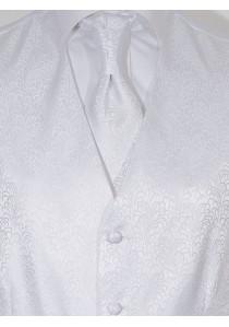 Set mit Hochzeitsweste im Paisley Look Weiß