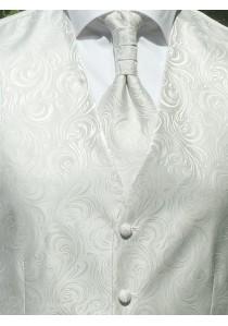 Hochzeitswesten-Set mit ziseliertem Muster Silber
