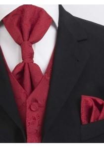 Westen-Set mit Ornamenten  Rot Lorenzo Guerni