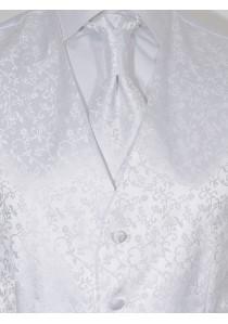 Herren-Weste Mailand Ornamente  Weiß Lorenzo