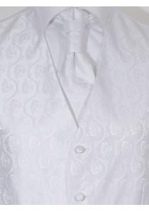 Hochzeitswesten Set Mailand Ornamente Weiß Lorenzo