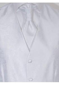 Hochzeitsweste Paisley im Set Weiß Lorenzo Guerni