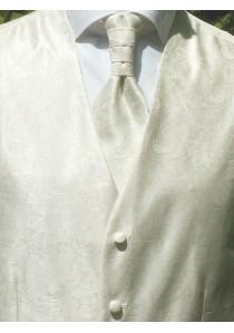 Hochzeitsweste Paisley im Set Creme / Beige Lorenzo Guerni