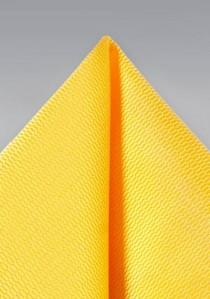 Herren-Einstecktuch strukturiert gelb