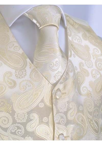 Set Weste und Krawatte mit mit Paisley-Muster