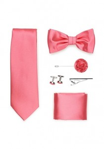 Geschenk-Set Krawatte Herren-Schleife Tuch und