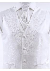 Hochzeitsweste mit Ornamenten Weiß Ashford