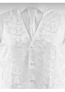 Weste mit Paisley-Muster Weiß Ashford