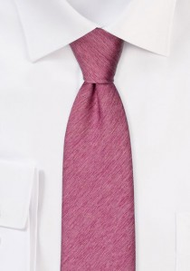 Krawatte monochrom melierte Struktur fuchsie