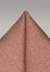 Einstecktuch melierte Oberfläche rotbraun
