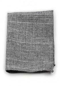 Einstecktuch Baumwolle gesprenkelt anthrazit