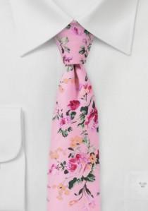 Krawatte Baumwolle Rosen-Pattern rose