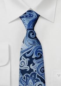 Krawatte Paisleymotiv marineblau