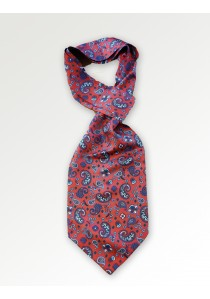 Ascot mit Paisley in rot