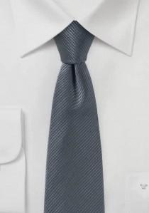 Krawatte Streifenstruktur dunkelgrau