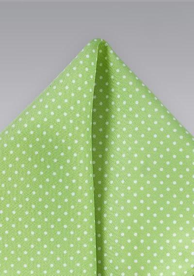 Kavaliertuch grün Tupfen
