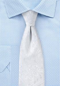 Krawatte kultiviertes Paisley-Muster perlweiß