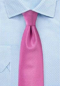 Krawatte strukturiert uni dunkelrosa