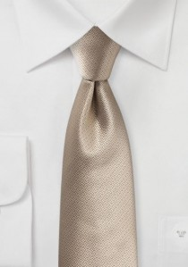 Krawatte Struktur uni ockerfarben