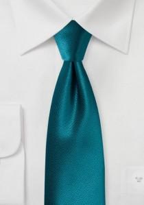 Krawatte strukturiert uni blaugrün