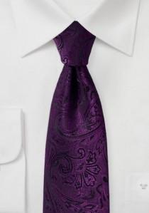 Krawatte kultiviertes Paisley-Motiv purpur schwarz
