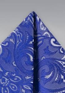 Einstecktuch verspieltes Paisley-Muster blau
