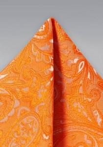 Kavaliertuch überschäumendes Paisley-Muster kupfer