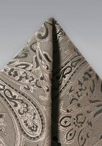 Ziertuch verspieltes Paisley-Muster ocker