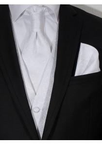 Hochzeitswesten Set Paisley Look Weiß Lorenzo Guerni
