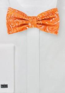Herren-Schleife modernes Paisley-Muster orange