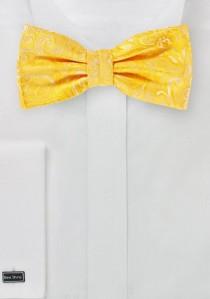 Fliege topmodisches Paisleymotiv gelb