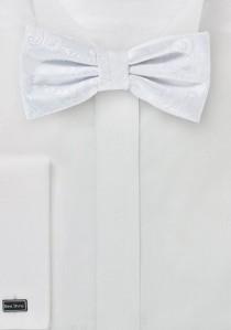 Fliege stylisches Paisley weiß