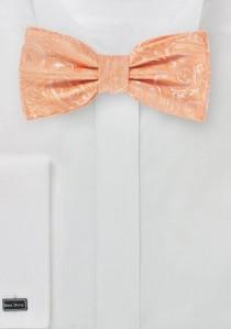 Herren-Schleife stylisches Paisley apricot